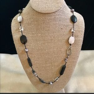 Silpada Necklace Sterling Silver Black & White